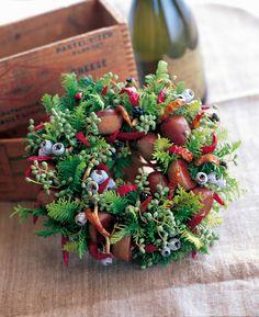 őszi dekorációk gesztenyéből