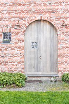 Houten voordeur - Energiezuinige houtskeletwoning | Energiezuinig bouwen met Arkana