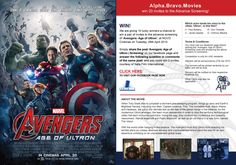 We are giving 10 lucky winners a chance to win a pair of invites to the advance screening of 'Avengers: Age of Ultron' at NOVO Cinemas on Tuesday, 28th April 2015. Simply share the post 'Avengers: Age of Ultron | Screening' on our facebook page and answer the following question in comments of the same post, and you could win 2 invites, courtesy of Italia Film International.