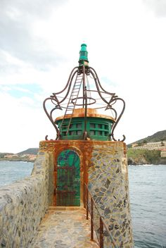 ✮ Collioure Lighthouse, France. Only the French would have such a fanciful lighthouse!