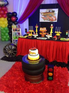 Hot Wheels birthday party! See more party ideas at CatchMyParty.com!