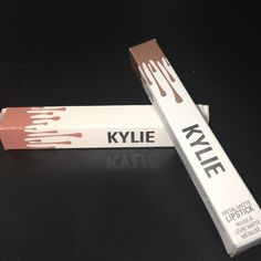 Kylie Jenner lip bundle Lipgloss in Literally and matte matalic in Her very beautiful collection Kylie gloss literally wand is funky its from first batch were there were manufactured with wacky wands MAC Cosmetics Makeup Lip Balm & Gloss
