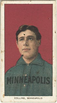 [Jim Collins, Minneapolis Team, baseball card portrait]