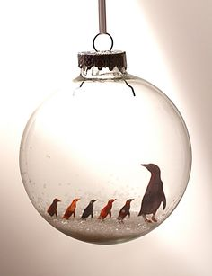 PREORDER Little Penguins  Holiday Ornament by GlakLove on Etsy, $15.00