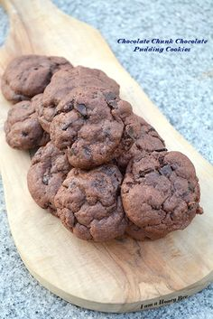 You won't be able to resist these Chocolate Chunk Chocolate Pudding Cookies. The pudding mix makes them extra soft, just like biting into a chocolate cloud.
