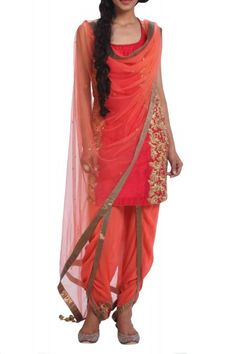 latest indian designer wear -dhoti pant suit