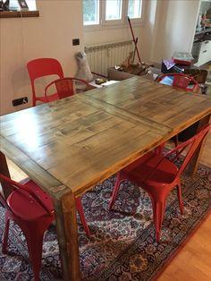 Rustic barnwood table #reclaimedwood