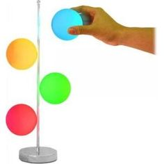 colorful magnetic orbs light
