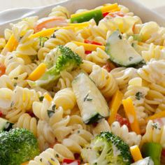Cool Ranch Coleslaw Recipe ½ head green cabbage (green cabbage thinly sliced, (about 6 cups))¼ cup red bell pepper (red bell pepper)¾ cup Hidden Valley® Broccoli Slaw Recipes, Pea Salad Recipes, Pasta Recipes, Rice Recipes, Veggie Recipes, Yummy Recipes, Yummy Food, Healthy Recipes, Cooking