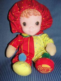 Vintage 1986 PlaySkool Baby Hallmark Jammie Pies Doll Lovey Rare Winkum Hasbro  #PlaySkool