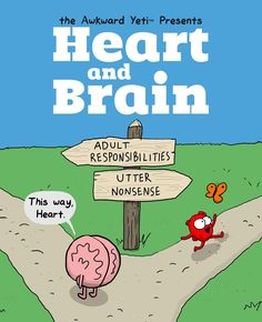 From paying taxes and getting up for work to dancing with kittens and starting a band, readers everywhere will relate to the ongoing struggle between Heart and Brain.   http://www.andrewsmcmeel.com/books/detail?sku=9781449470890&utm_source=gc-pinterest&utm_content=pinboard-comicbooks&utm_medium=socialmarketing&utm_campaign=social   #GoComics #comics #books