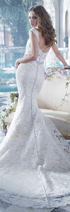 Alvina Valenta mermaid #wedding dress