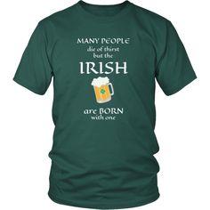 "Saint Patrick's Day "" Irish thirst for Beer "" - custom made funny t-shirts, original gifts.-T-shirt-Teelime | shirts-hoodies-mugs"