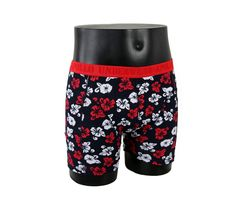 Røde boxershorts i 95% bomuld og 5% elastan med et mønster af blomster, set fra en anden vinkel!  http://www.billigeboxers.dk/home/52-boxershorts-med-blomster-fra-apollo-i-rod.html