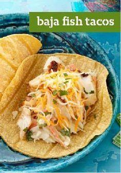 Baja Fish Tacos — Dude, flaky fish wrapped with tangy coleslaw in a corn tortilla equals awesome surfer soul food. Plus, this recipe is totally ready for the dinner table in just 20 minutes. Kraft Recipes, Fish Recipes, Seafood Recipes, Mexican Food Recipes, Cooking Recipes, Healthy Recipes, Ethnic Recipes, Mexican Dishes, Healthy Meals