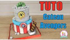 gateau avengers, gateau cake design, gateau pate à sucre, tuto cake design, tuto avengers Cake Design Tutorial, Marvel Cake, Gateau Cake, Avenger Cake, Cake Youtube, Cookie Pie, Cake Decorating Tutorials, Goods And Services, Cake Designs