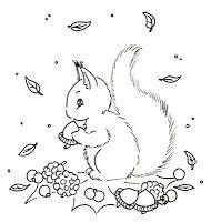 Sliekje digi Stamps: Squirrel