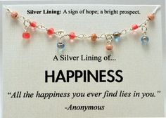 Pink and Blue Beaded Happiness Necklace  by SimpleSilverLinings