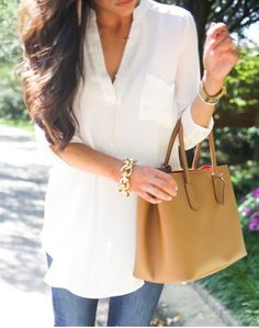 Solid Color 3 4 Sleeve Blouse