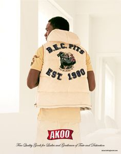 Model Anthony Ruffin in AKOO clothing campaign
