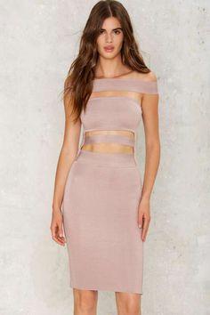 Word is Bondage Mini Dress
