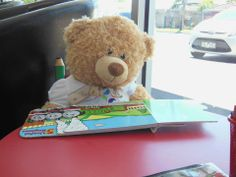 Reading is hard work when you are a Teddy