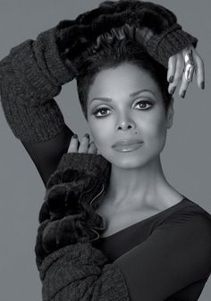 Janet Jackson in Black and White.