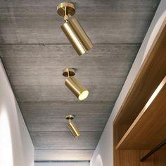 Led Recessed Ceiling Lights, Led Ceiling Light Fixtures, Brass Ceiling Light, Ceiling Spotlights, Modern Light Fixtures, Modern Ceiling, Modern Pendant Light, Ceiling Lamp, Modern Lighting