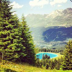 Valbella / Lenzerheide, Switzerland #alps #lake #mountains #tree #forest