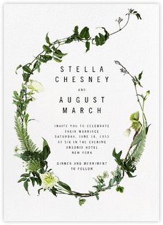 Painted Circle (Invitation) - White - Paperless Post
