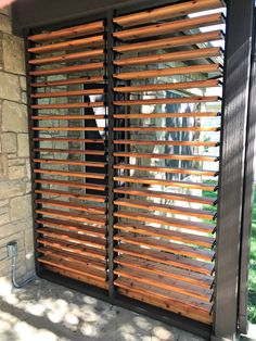Beautifully done Louvered Privacy Wall! Amazing creation done by Georgetown Fence & Deck in Central Texas! Privacy Wall Outdoor, Hot Tub Privacy, Porch Privacy, Decks With Privacy Walls, Privacy Screens, Backyard Patio Designs, Backyard Fences, Backyard Privacy, Patio Decks