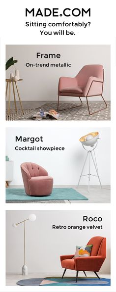 Sit back, relax and know that you're enjoying a designer creation that didn't cost the earth. Choose from seriously stylish scooped-back chairs or embrace your inner Dr Evil in a winged number.