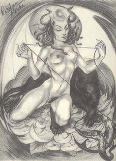 "Rosaleen Norton's ""Lilith"" (Plate IV - The Art of Rosaleen Norton)"