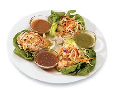 If you're trying to eat more veggies and less carbs, try wrapping your meat up with lettuce instead of tortillas or wraps. A serving of these Thai Beef Lettuce Wraps has only 290 calories and almost almost a day's worth of protein!