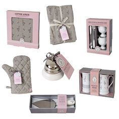 The Mary Berry Collection ~ branded range of kitchenwares in white & grey with Mary's goose emblem (2015) | shop from John Lewis