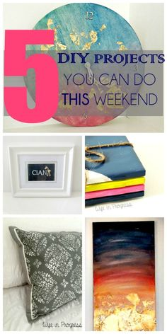 5 DIY Projects You Can Do This Weekend- Love, Pasta and a Tool Belt | DIY | Projects | Crafts | DIY Crafts |