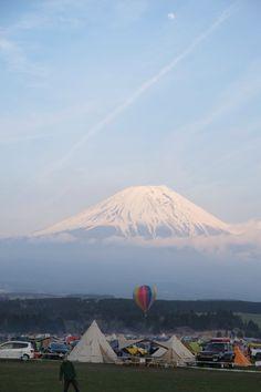 富士山と気球 @ふもとっぱら