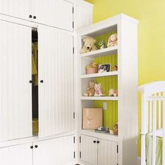 Possible alternative to our depressingly small closets? Built-in wardrobe.