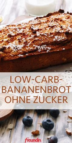 Low carb recipe: banana bread without sugar freundin. Low Carb Desserts, Low Carb Recipes, Dessert Recipes, Cooking Recipes, Banana Bread Without Sugar, Law Carb, Cena Keto, Vegetable Drinks, Easy