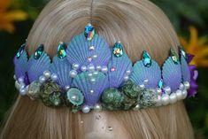 Seashell Sea queen Siren crown, mermaid tiara,seashell crown, seashell tiara,ocean theme hair accessories,mermaid photo prop,Sea Queen crown