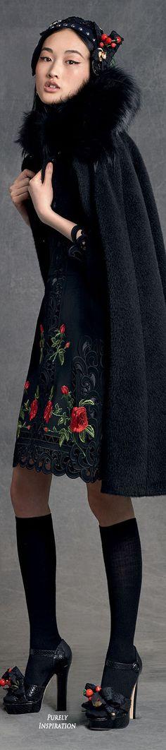 Dolce&Gabbana Winter Collection Women's Fashion RTW   Purely Inspiration