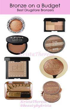 Bronze on a Budget! Best drugstore bronzers.