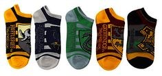 Wishlist - Harry Potter Hogwarts Striped No-Show Socks (From Hot Topic)