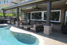 Solid Wood Patio Cover plans | of 7: Alumawood Solid Roof Patio Covers pool deck