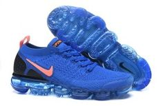 Perfect Nike Air VaporMax Flyknit 2. 0 W Royal Blue Orange Black 942842 506 Mens Running Shoes Summer Trainers