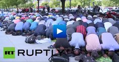 Watch: Muslims demand to allow them to use the University of Berlin as a mosque