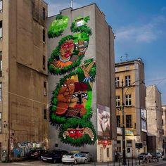 New mural by @nunca_art in Lodz, Poland for Urban Forms.