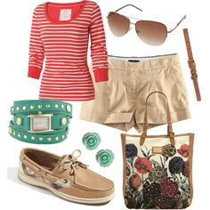 """""""Sweet Sperry Spring"""" - My very own polyvore creation!"""