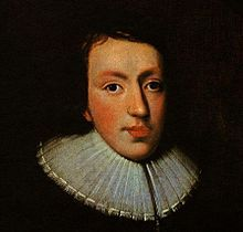 Portrait of John Milton in National Portrait Gallery, London ca. 1629.  Unknown artist.  1608-1674 - John Milton born in London, England on December 9, 1608 – November 8,1674, was an English poet, polemicist, a scholarly man of letters. Works include: Paradise Lost, Milton's dramatic poems +277 more