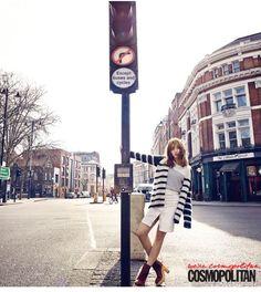 Suzy brings new energy to East London in her Cosmopolitan pictorial